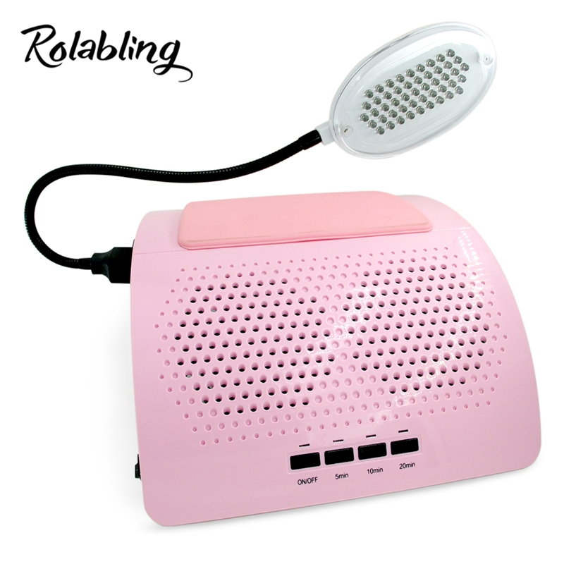 Здесь продается  Rolabling New Arrival 40W Pink 110V&220V Nail Dust Collector Manicure Machine with LED Lamp Nail Art Equipment  Красота и здоровье