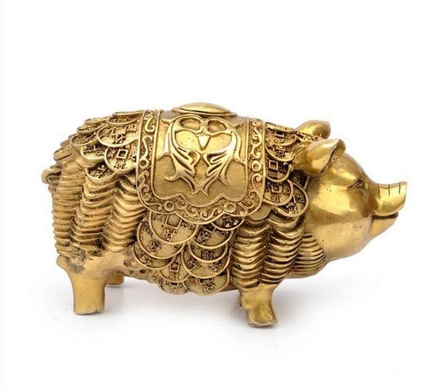 SCY 401 + + + + Feng Shui fortunato soldi maiale di rame dei monili regali di artigianato talismano ufficio decorazioneSCY 401 + + + + Feng Shui fortunato soldi maiale di rame dei monili regali di artigianato talismano ufficio decorazione