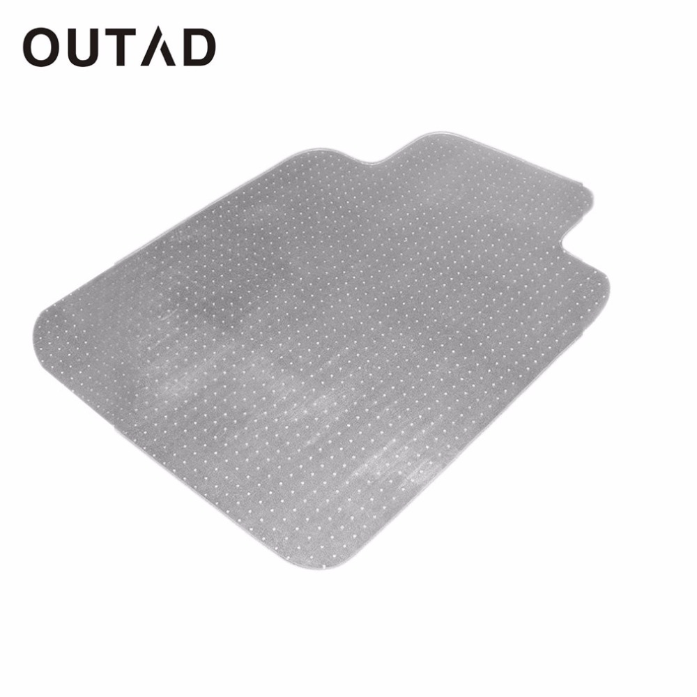 OUTAD PVC Home Chair Blanket Mat Studded Back With Lip For Standard Pile Carpet Protecting Chair Pad Office Chair Mat ...