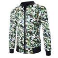 2015 New Arrival Pu Leather Jacket Men Fashion Design Camouflage Mens Slim Fit Baseball Jacket Brand Motorcycle Biker Jacket Xxl