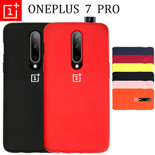 Oneplus 7 Pro Case Soft Liquid Silicon Back Cover 6 6T capa Ultra Thin Matte 360 Degree Full Protective Funda