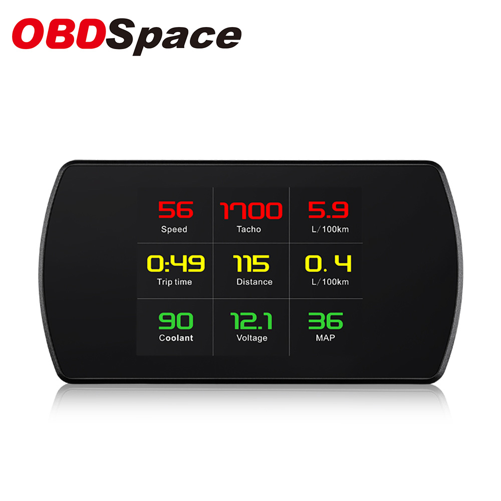 OBDSpace P12 OBD2 Car HUD Head Up Display Digital Speed Projector On-Board Computer Speedometer Windshield 5.8