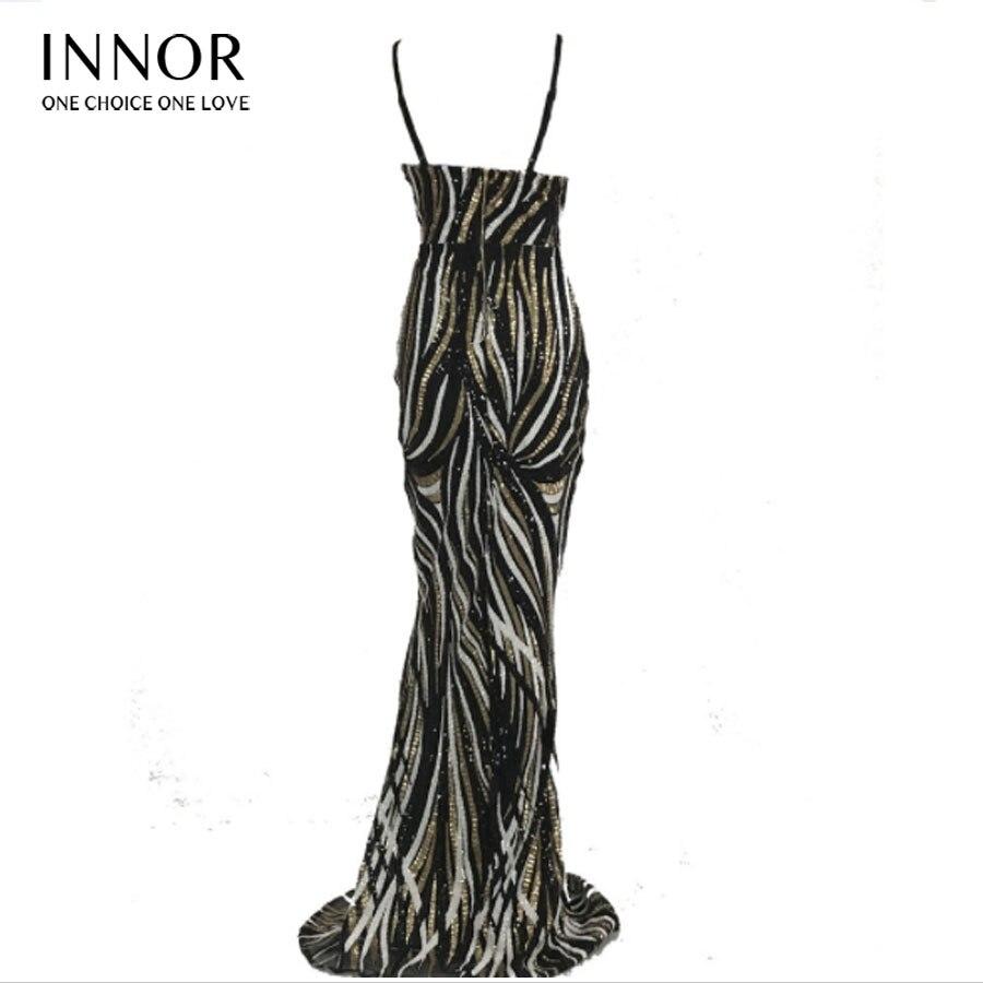 Paillettes noir Parti Dos De Noir Robe Élégant Nu Soirée Beige Innor Longue Maxi 8wFxOSU