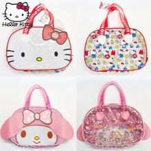 Kawaii Hello Kitty 35CM Handmade Woman HandBags Mommy Lovely Girl Shopping Bag Cartoon Portable Fashion Christmas Plush Backpack