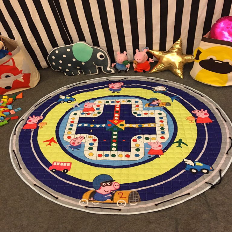Baby Soft Play Mat Game Blanket Pad Kids Play Carpet Climb indoor room Crawling Mat Sundries Pouch Toys Storage Bag picnic mats 120cm play mat baby blanket inflant game play mats carpet child toy climb mat indoor developing rug crawling rug carpet blanket