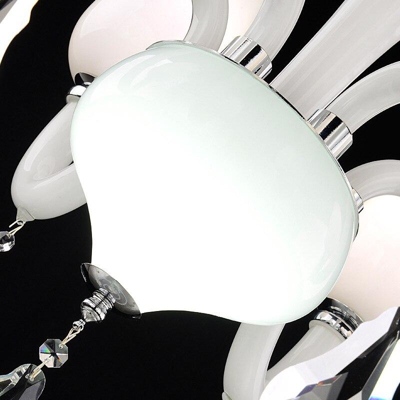 Lâmpada lustre de cristal sala de estar lâmpada lustre Europeia neve branca moderna lâmpada do teto de cristal - 3