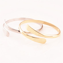 Rose Gold/ Silver Color Open Cuff Bracelet Bangles For Women  Copper Jewelry Fashion Love pulseras bijoux femme Z3
