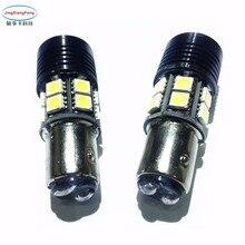 цена на JingXiangFeng 2Pcs 1157 1156 BAY15D Led Bulb P21/5W 21  Auto Leds Bulbs Brake Tail Lamp Car Backup light 12V White