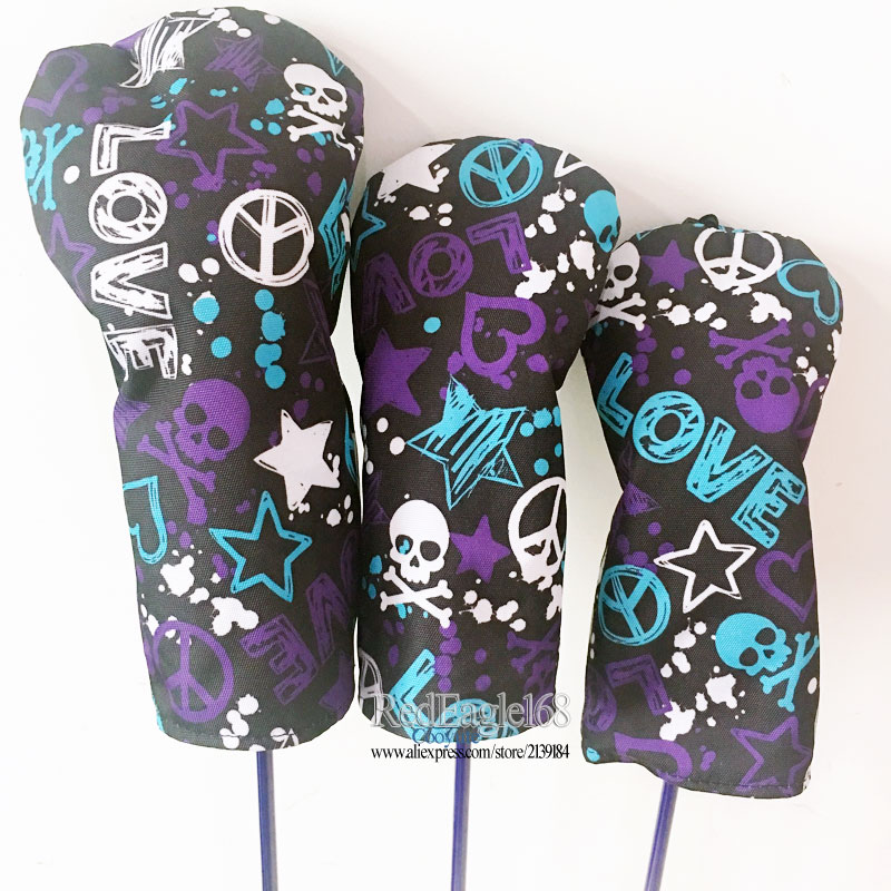 Image 3 - wholesale New Golf wood headcover high quality Skull 135 Golf headcover Unisex Drivers Clubs head cover Free shipping-in Club Heads from Sports & Entertainment