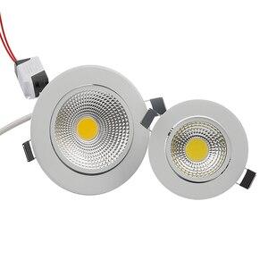 Image 3 - Сверхъяркий Светодиодный точечный светильник с регулируемой яркостью, точечный светильник с COB матрицей, 5 Вт, 7 Вт, 9 Вт, 12 Вт, Встраиваемый светодиодный точечный светильник, лампочки для внутреннего освещения