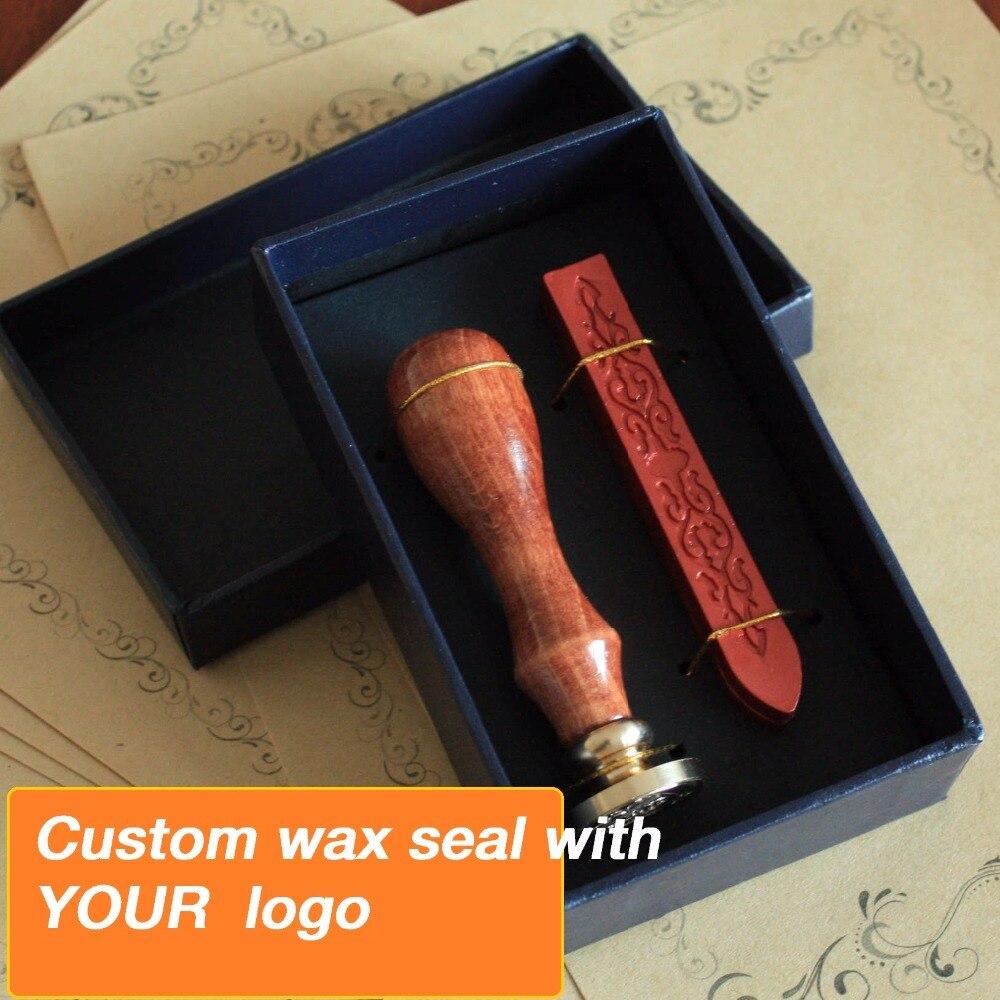 Kundenspezifische Wachs Stempel in geschenkbox mit wachs, Retro Stil Siegellack Stempel set, Deluxe Geschenk set 26 alphets, Gruß worte für wählen