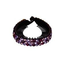 CHIMERA Trendy Rhinestone Hair Clips Round Twist Barrette Pins Ponytail Clamps Women Bun Clip Fashion Jewelry Ornaments