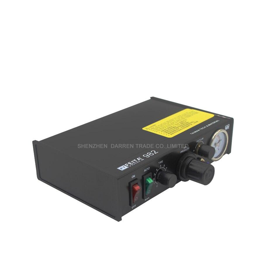 цены на Glue Dispenser Semi-Automatic Glue Dispenser Machine Solder Paste Liquid Controller FT-982 в интернет-магазинах