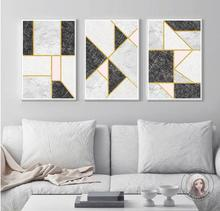 Geometrical Figure Composed Different Colored Squares Frameless Nordic Abstract Canvas Painting Living Room Decor Unframed