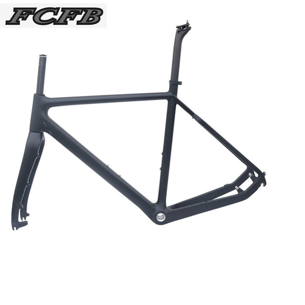 2017 FCFB No Logo UD T800 Carbon Road Frame Cyclo-Cross Carbon Bike Frame Matt Balck 51/53/55cm BSA Road Dics Bicycle Frame