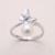 [YKIN] Pearl Joyería 925 Anillos de Plata Para Las Mujeres Mariposa Elegante Anillo de La Joyería Fina