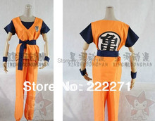 Dragon Ball Z GoKu Letter GUI Cosplay Costume Fancy Party clothing Cos Free Track Anime Top+Pants+Belt+Wrist Band