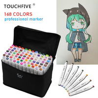 TouchFIVE 80 Цвета набор маркеров для живописи на спиртовой основе кисть лайнер двойной ручкой маркеры для эскизов Twin Рисование манга товары для ...