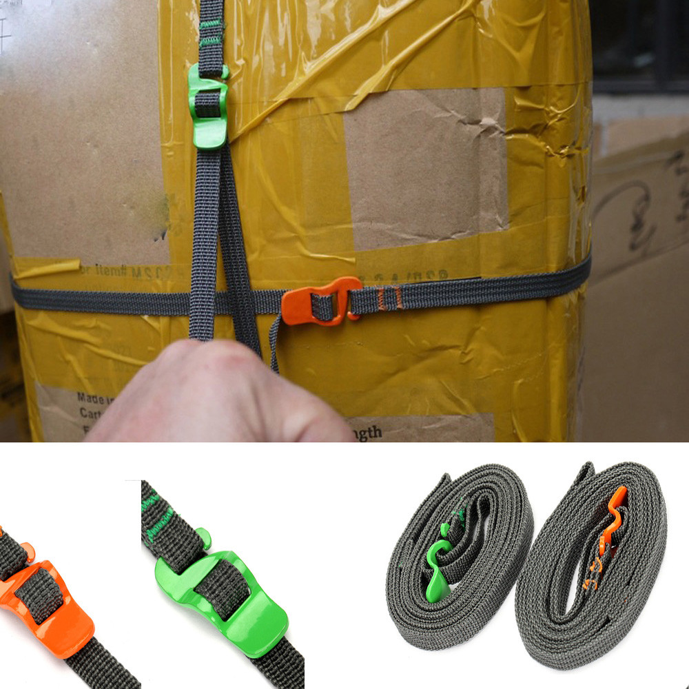 High quality 2.5M Outdoor Travel Essential Strapping Cord Tape Rope Tied Pull Luggage Stainless Hook Strong durable lowest #30