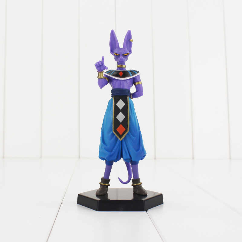 1 pcs Dragon Ball Z super saiya Beerus Collectible Toy Modelo PVC Figuras com base