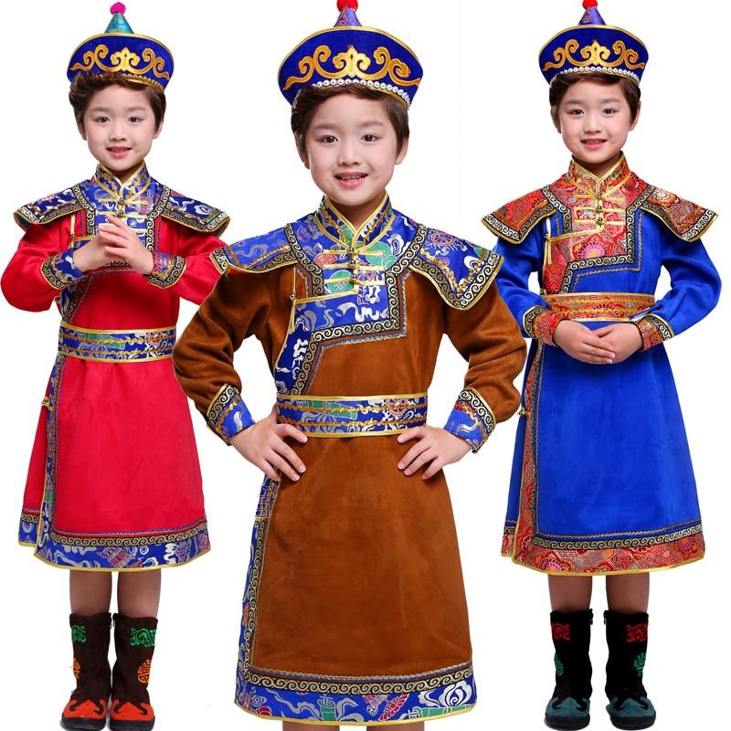 07137e05c 3 ألوان منغوليا الملابس للأطفال منغوليا الملابس الأطفال الوطني الأمير ازياء  الصينية الوطنية الملابس الاطفال