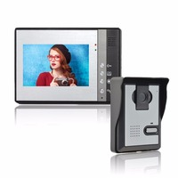 Wired Home Apartment Color Video Door Phone Intercom System 7 TFT LCD Monitor IR Outdoor Camera