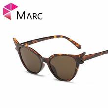MARC 100%UV400 WOMEN 2018NEW Brand Design Fashion Trendy Plastic Cat Eye Sunglasses Alloy Gafas Oculos Eyewear Resin