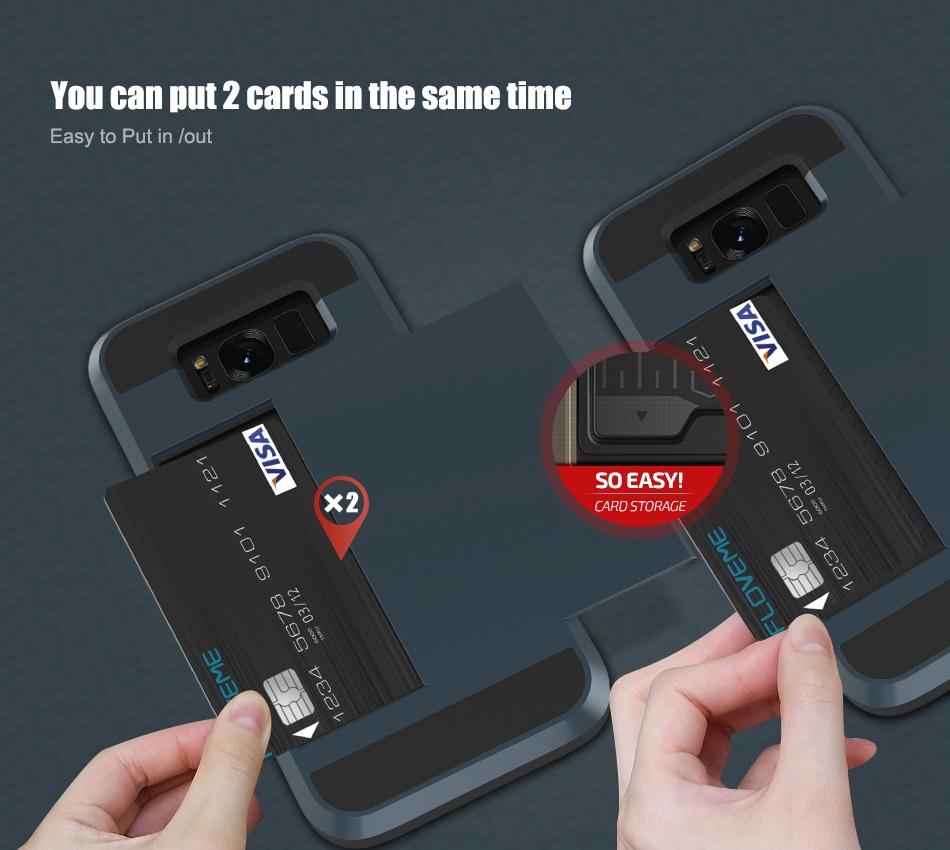 For Samsung S8 Plus Armor Case Galaxy S8 Hidden Card Slot Phone Cases  (4)