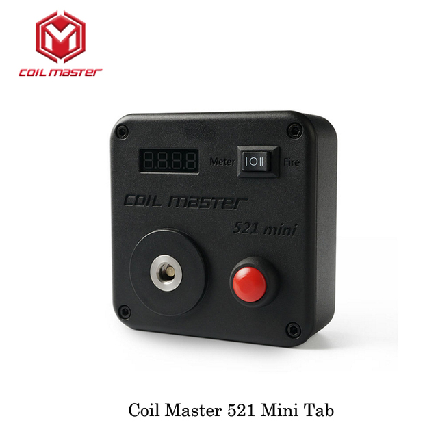 Coil Master 521 mini Tab Driven by a single 18650 battery For Electronic Cigarettes 510 Thread RDTA RDA RTA Building Vaporizer