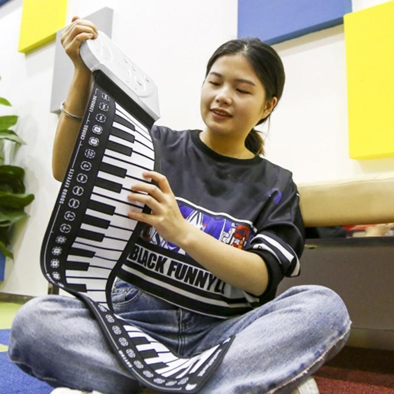 Multi estilo portátil 49 teclas Flexible de silicona enrollable Piano plegable teclado electrónico para Niños Estudiantes