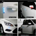 2 pçs/lote led Auto Corpo bumper faixa de Eliminar A eletricidade estática Eliminator car Bumper faixa de porta Solar Strobe Luz de Advertência