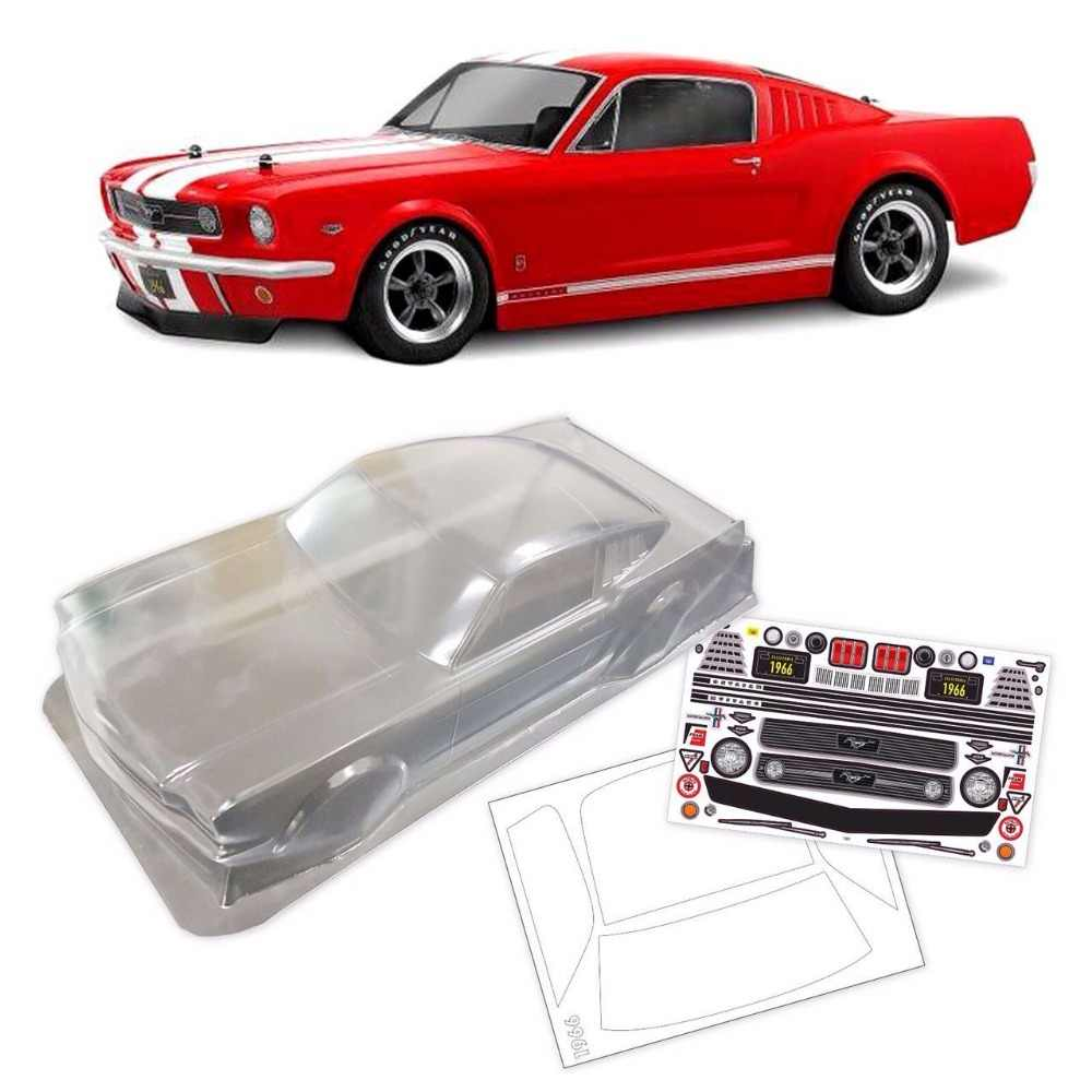 1/10 escala rc deriva onroad corpo interno 1966 ford mustang gt 200mm para hpi kyosho tamiya hsp redcat fs yomako cc01 hraxxas