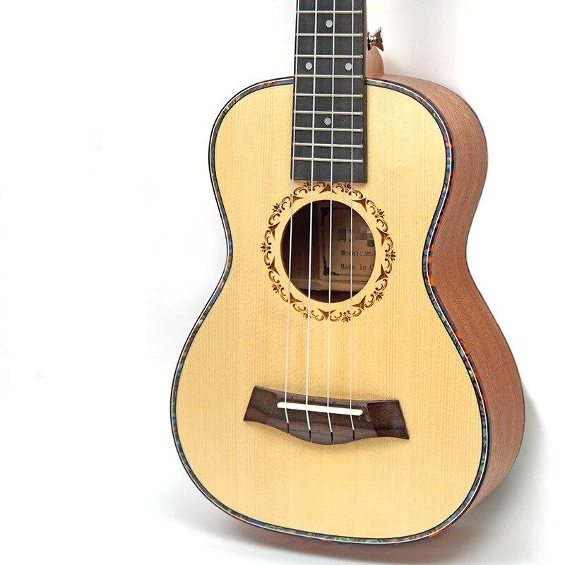 Afanti Music 23 inch small Guitar / Picea Asperata / 23 inch Ukulele (DGA-144) 12mm waterproof soprano concert ukulele bag case backpack 23 24 26 inch ukelele beige mini guitar accessories gig pu leather