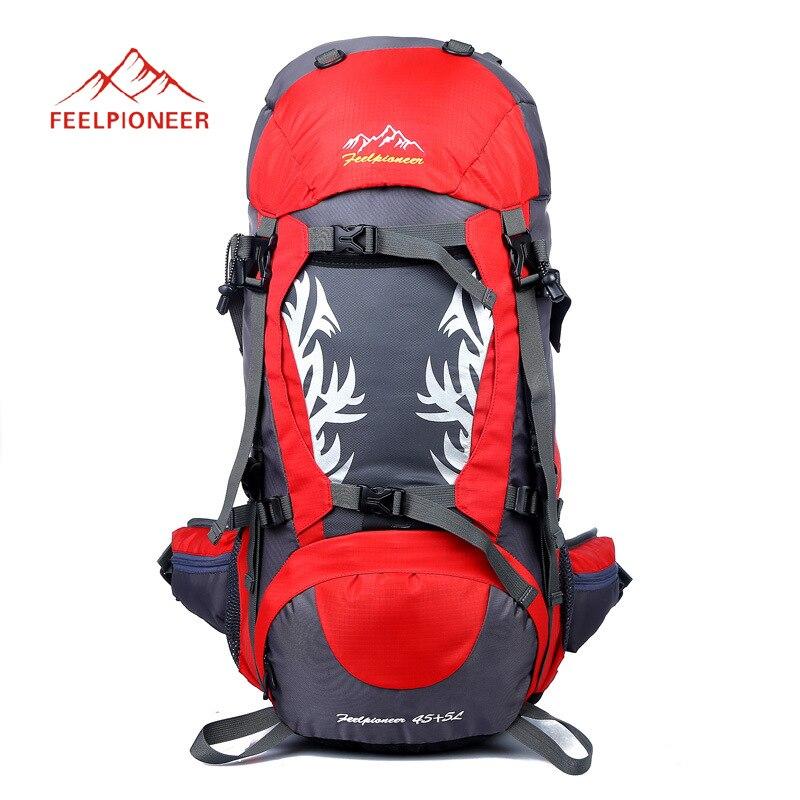 Sac de Sport 50L sac à dos en plein air sac à dos d'escalade imperméable alpinisme randonnée sacs à dos sac de Camping Molle avec couverture de pluie