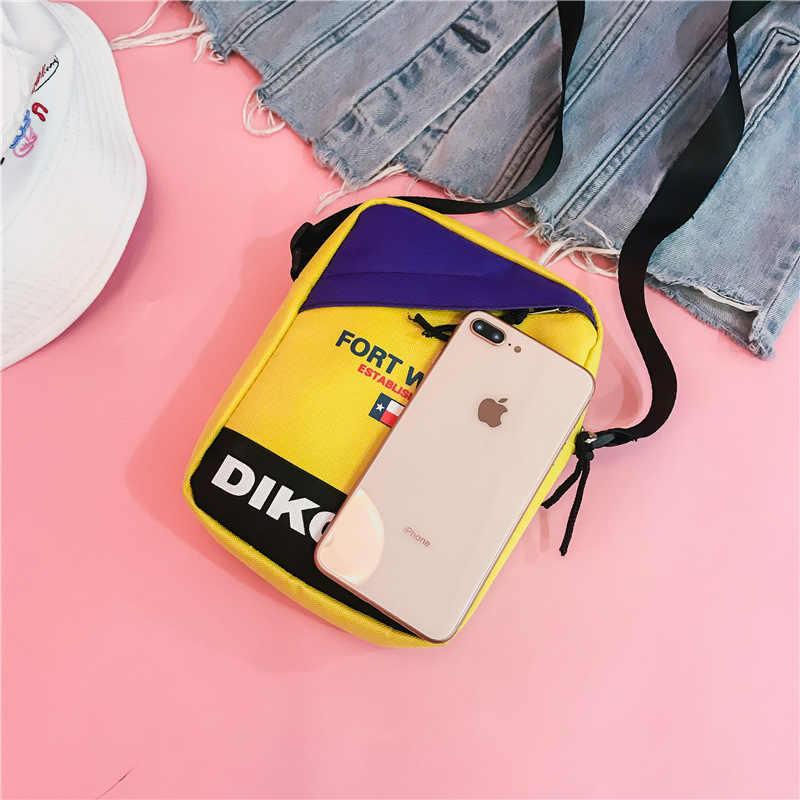 香港スタイルインメッセンジャーバッグ韓国語バージョンの原宿女性のためのクロスボディバッグニューストリート電話バッグヒップホップショルダーバッグ