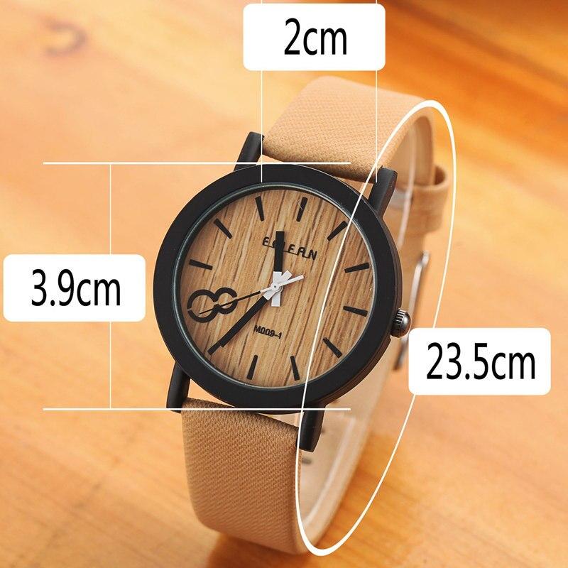 36a284f1eed Simulação Relojes Homens De Quartzo Relógios Casual Pulseira de Couro De  Cor De Madeira De Madeira Relógio de Madeira relógio de Pulso Masculino  Relogio ...