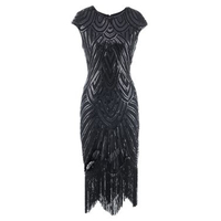 Great Gatsby Dress Sequin 1920 Retro Fringed Renaissance Dresses Woman Party Night Vintage Sexy Nightclub Party Beach Clothes