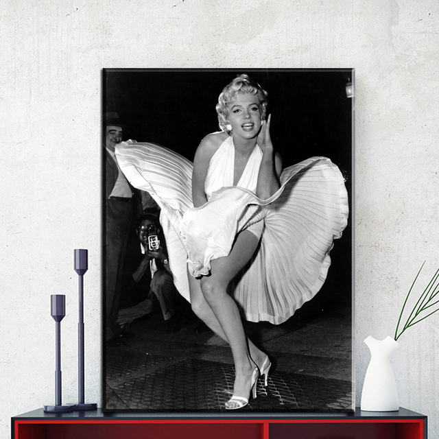 Zz1123 Black And White Modern Decorative Canvas Art Marilyn Monroe