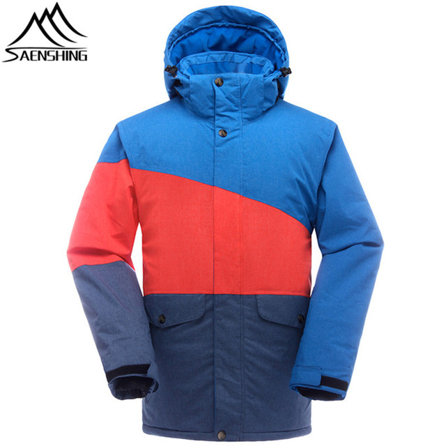 SAENSHING Brand Ski Jacket Men Super Warm Waterproof Winter Snow Jacket Ski Clothing Breathable Outdoor Snowboard Jackets Male