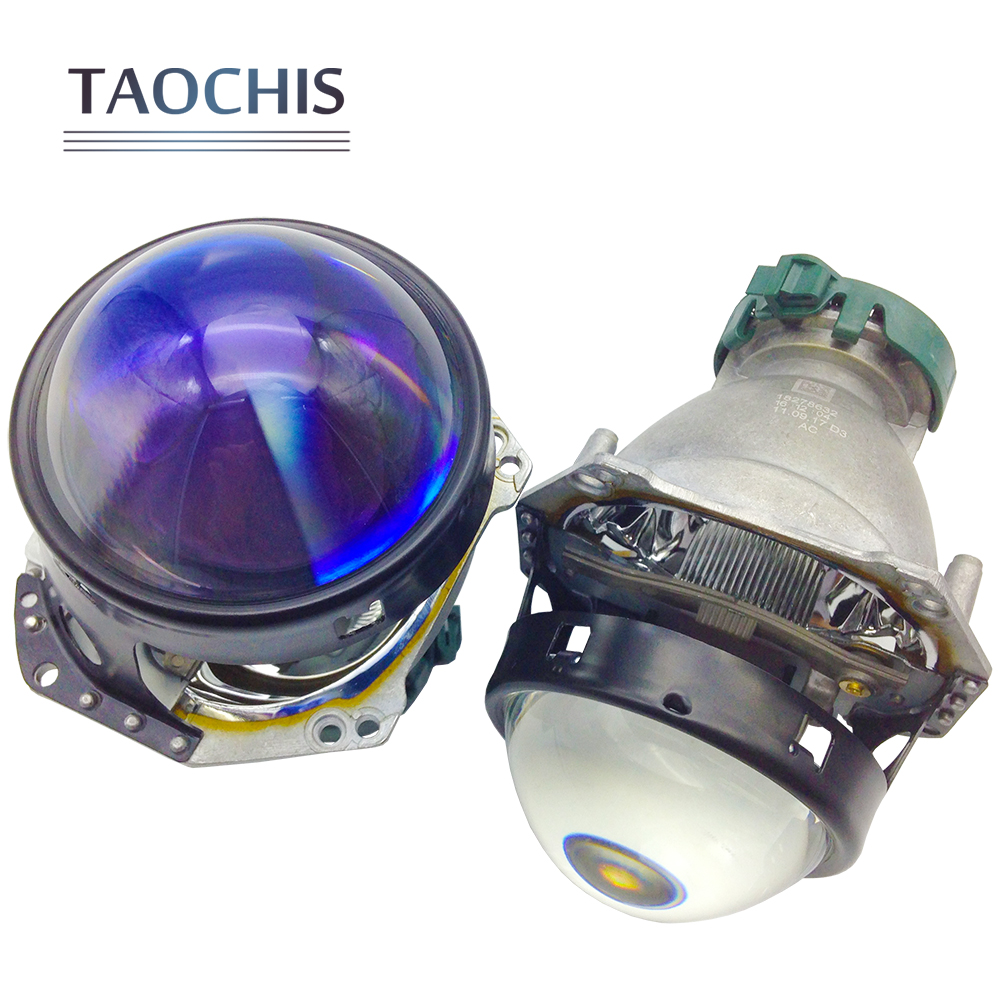 TAOCHIS Hella 3 5 Head lamp Bi-xenon Projector Lens Blue film Car styling Aluminum 3.0 Inch D1S D3S D4S D2S Bulbs H4 Retrofit taochis 3 0 inch bi xenon hella projector lens hid d1s d3s d4s d2s shroud devil angel eyes head lamp upgrade demon eye