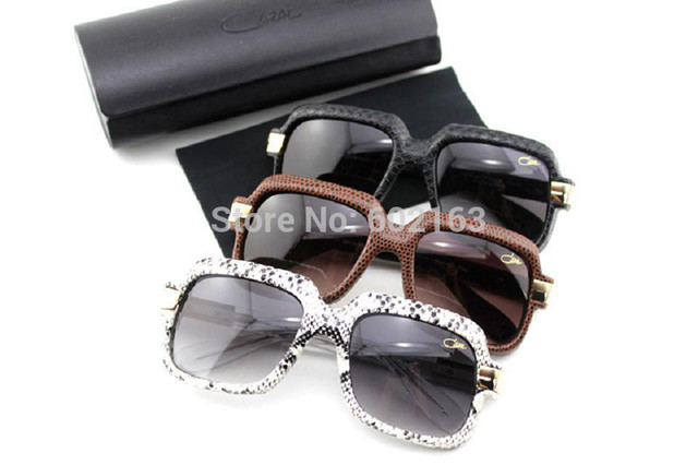 482ae565cb6 Designed for Men Germany Vintage Sunglasses Cazal 607 Full Snake Skin with  Acetate Frame and Gradient Lens with Free Shipping