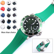 20mm Rubber Watch Strap Camouflage for Submarine GMT Daytona Bracelet Watchband Oyster Flex Explorer Stainless Buckle for Seiko grand seiko spring drive gmt