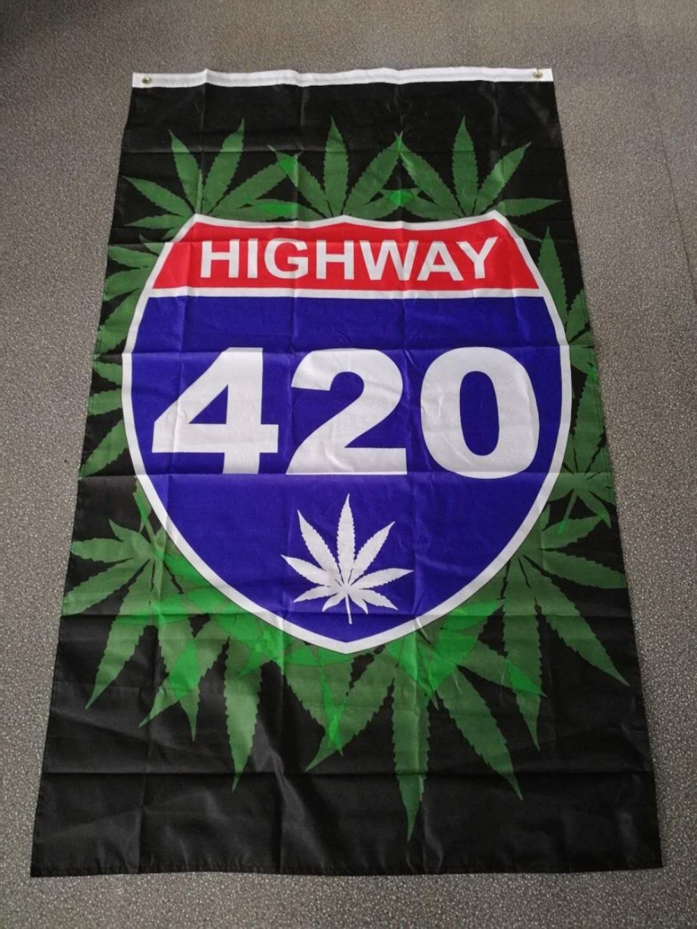 BOB Marley Reggae Rasta Hippie Band Xiangying 90*150cm highway 420 weed Flag For Bar Party Music Festival Tattoo Shop image
