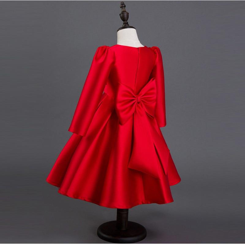 2017 automne Winte mode filles robes rouge fête robe enfants filles robes princesse Costumes filles soirée bal enfants vêtements - 5