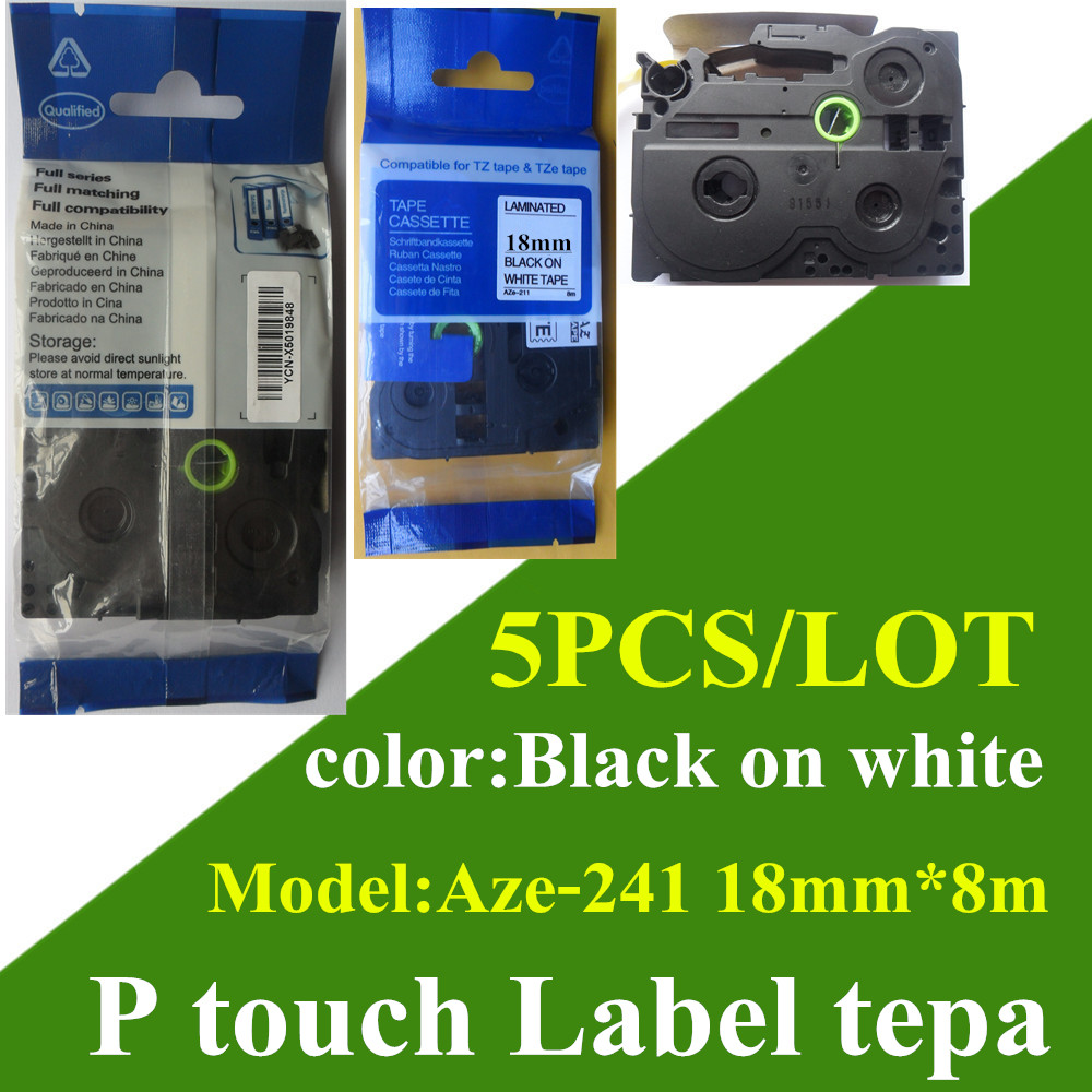 Color printing label maker - Free Shipping Handmade Label Maker Mixed Tze 231 Label Tape 18mm Compatible Paper Tags Aze