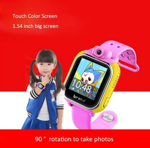 O envio gratuito de Crianças Relógio de Pulso 3G G75 GPRS GPS Localizador Rastreador Anti-Perdida Smartwatch Relógio Do Bebê Com a Câmera Para IOS Android