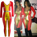 New Women Summer Celebrity  Night life cut out club jumpsuit sexy Ladies Miami Fashion Bandage Metal Panel Jumpsuit Catsuit