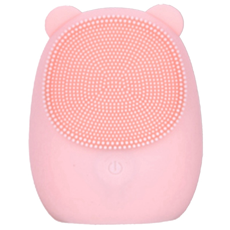 Facial Cleansing Brush Silicone Electric Facial Brush Skin Cleanser Deep Cleansing Makeup Residue Bear Face Brush For Washing