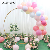 JAROWN Round Ring Arches Iron Shelf Artificial Flower Door Wedding DIY Background Decoration Home Party Flower Row Stand Decor
