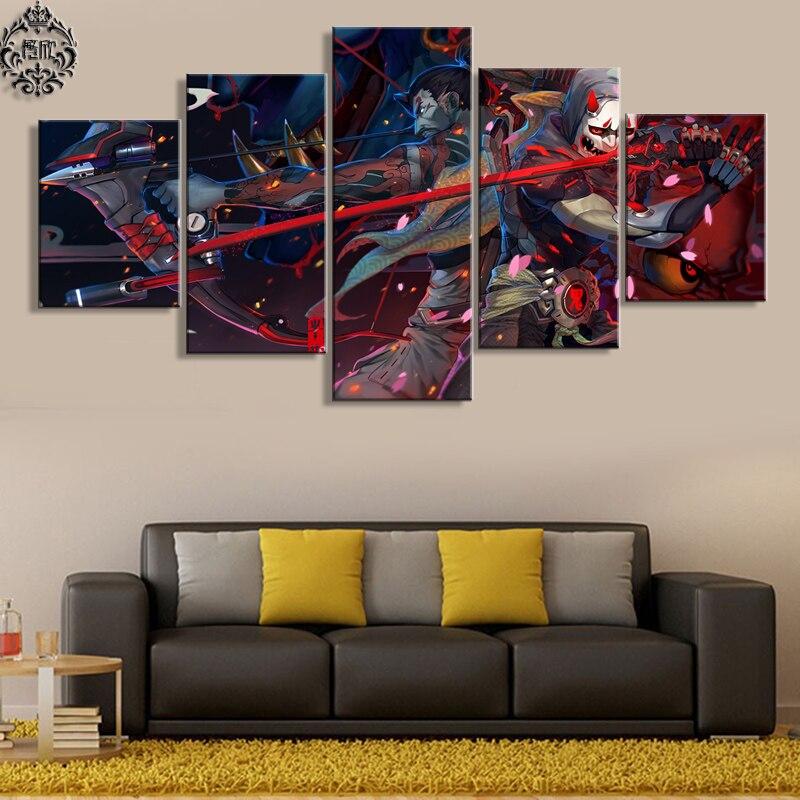 Καμβά τυπωμένο τοίχο τέχνης 5 πάνελ - Διακόσμηση σπιτιού - Φωτογραφία 3